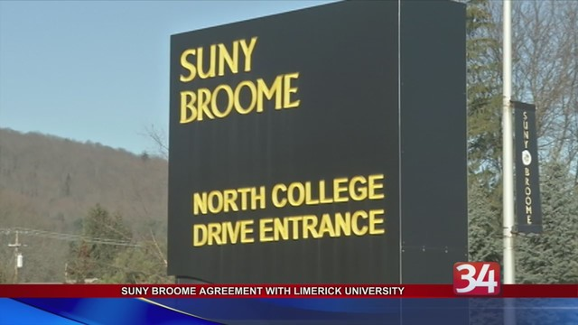 Suny Broome Forms Transfer Agreement With University Of Limerick In