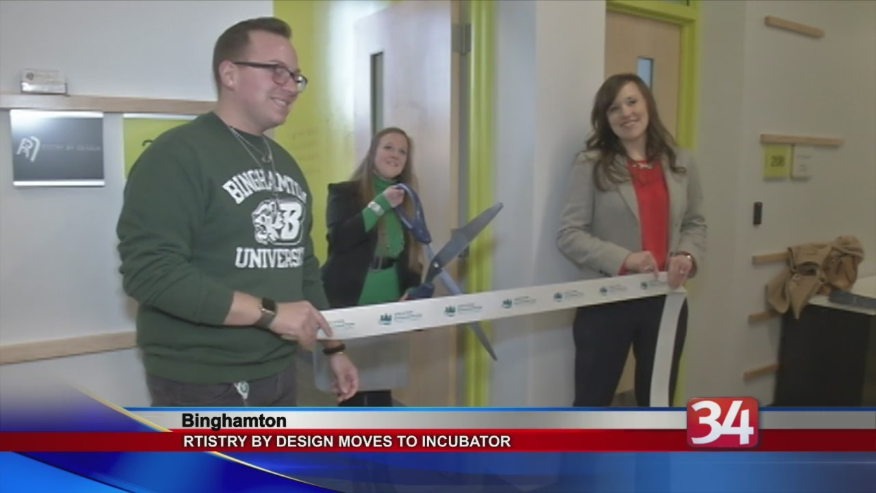 Rtistry by design hosts ribbon cutting at koffman southern tier incubator