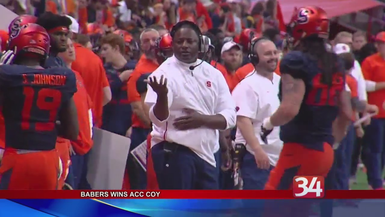 babers wins acc coach of the year award