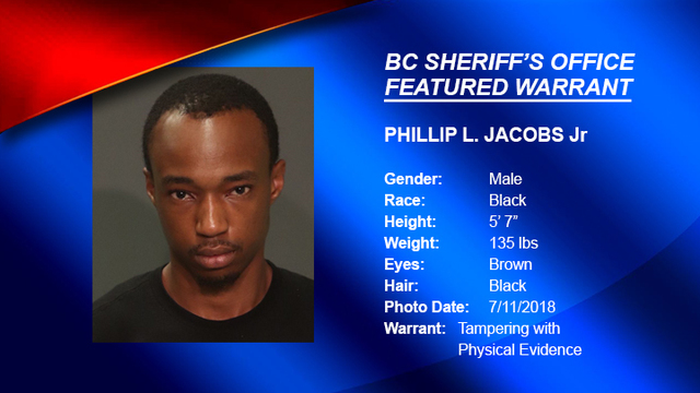 FEATURED WARRANT: Deputies are looking for Phillip Jacobs Jr