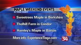 A statewide maple promotion takes place this weekend